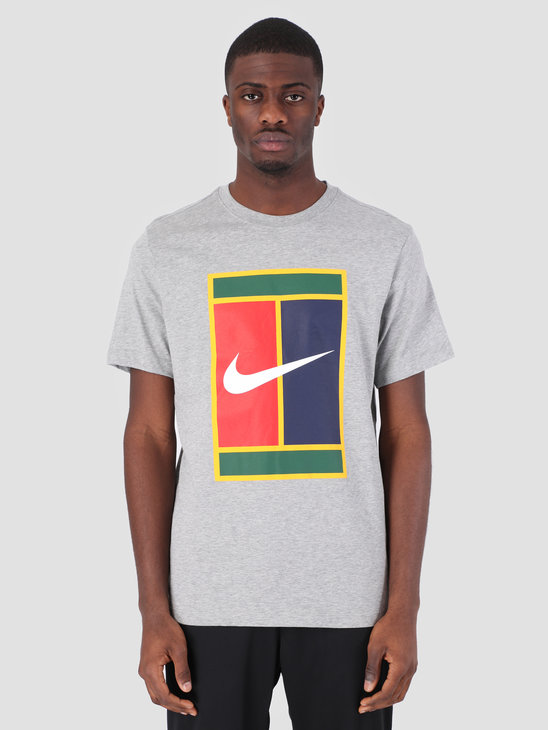Nike M Nkct T-Shirt Heritage Logo Dk Grey Heather Bv5775-063