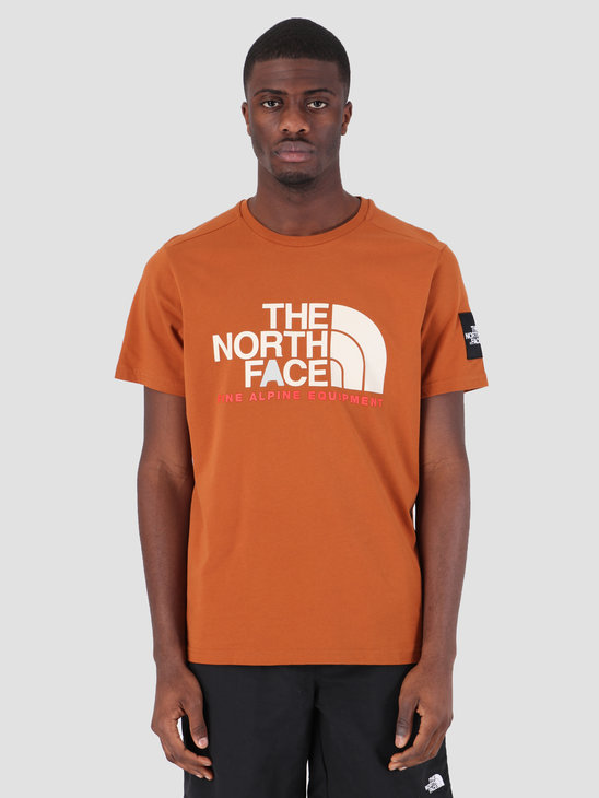 The North Face Fine T-Shirt Alp Equ Caramel Cafe T93RXKUBT
