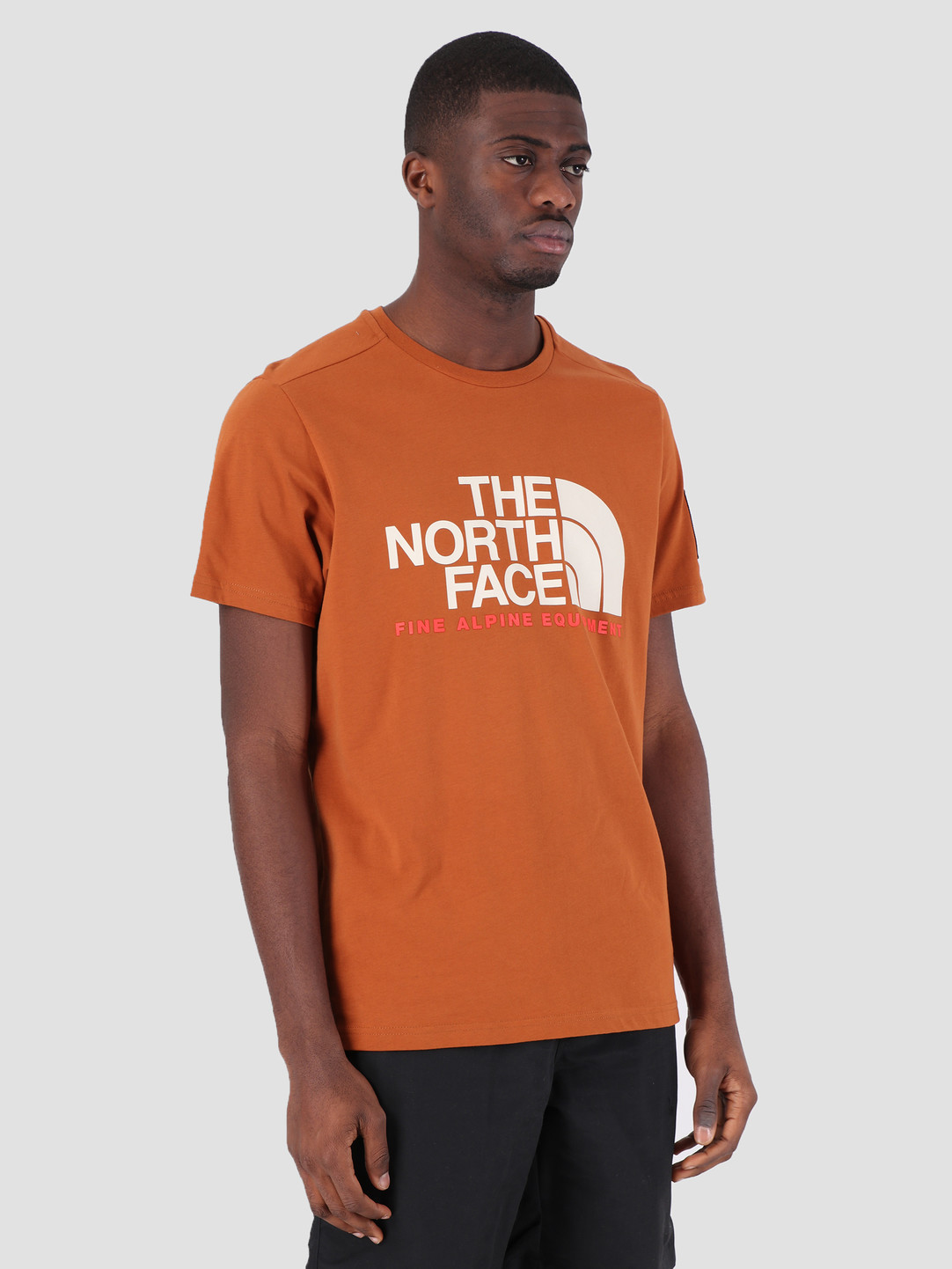 The North Face The North Face Fine T-Shirt Alp Equ Caramel Cafe T93RXKUBT