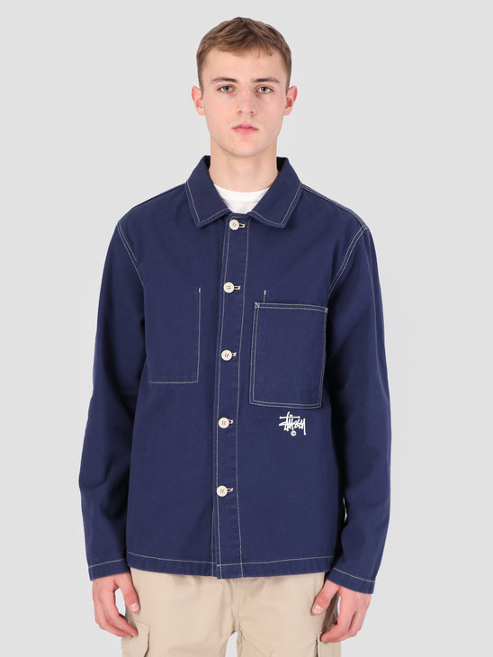 Stussy Canvas Shop Jacket Navy 0806
