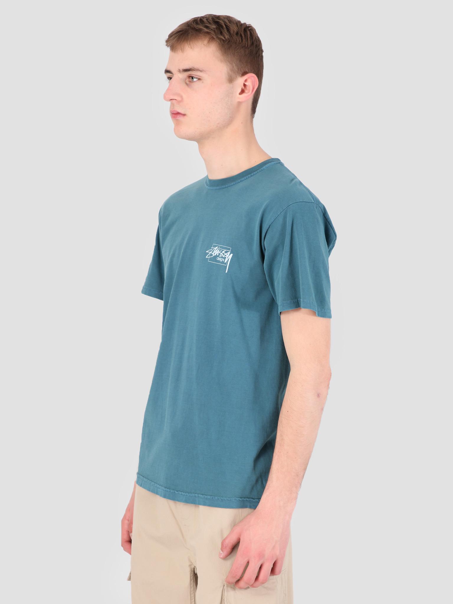 Stussy Stussy Modern Age Pig. Dyed T-Shirt Slate 0007