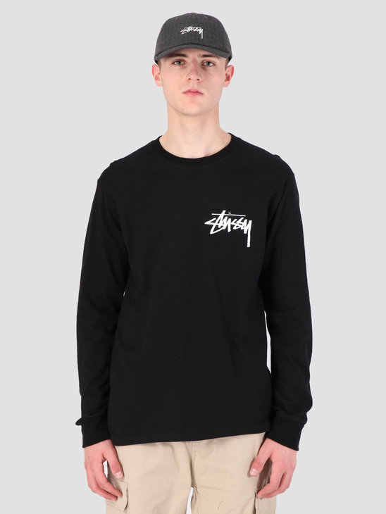 Stussy Stock Longsleeve T-Shirt Black 0001