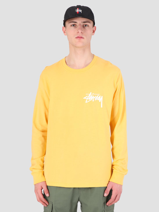 Stussy Stock Longsleeve T-Shirt Orange 0602