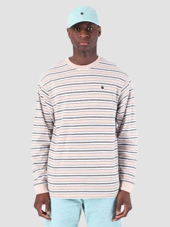 Carhartt WIP Long Sleeve Huron Shirt Huron Stripe Boulder Black 61091000