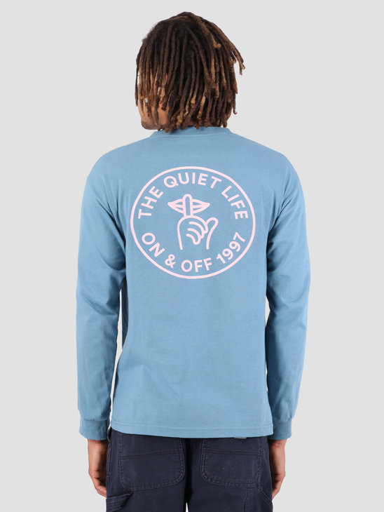 The Quiet Life Shhh Circle Long Sleeve Slate 19SPD1-1152-SLATE