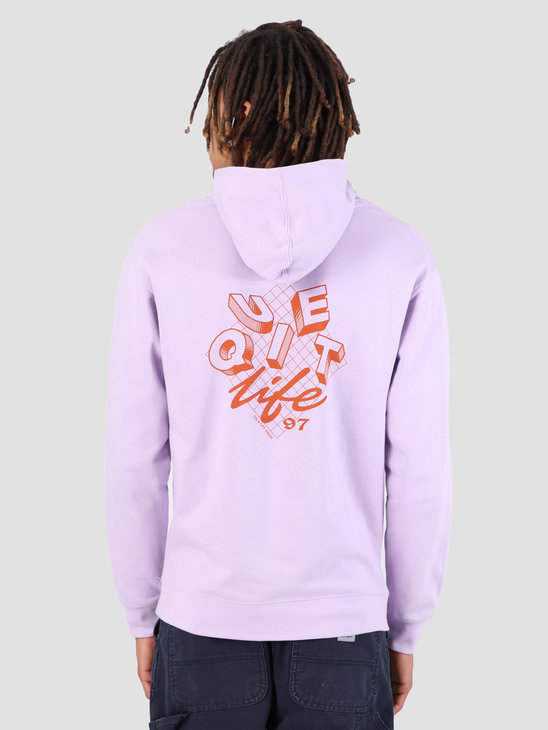 The Quiet Life Grid Pullover Hoodie Lilac 19SPD1-1134-LIL