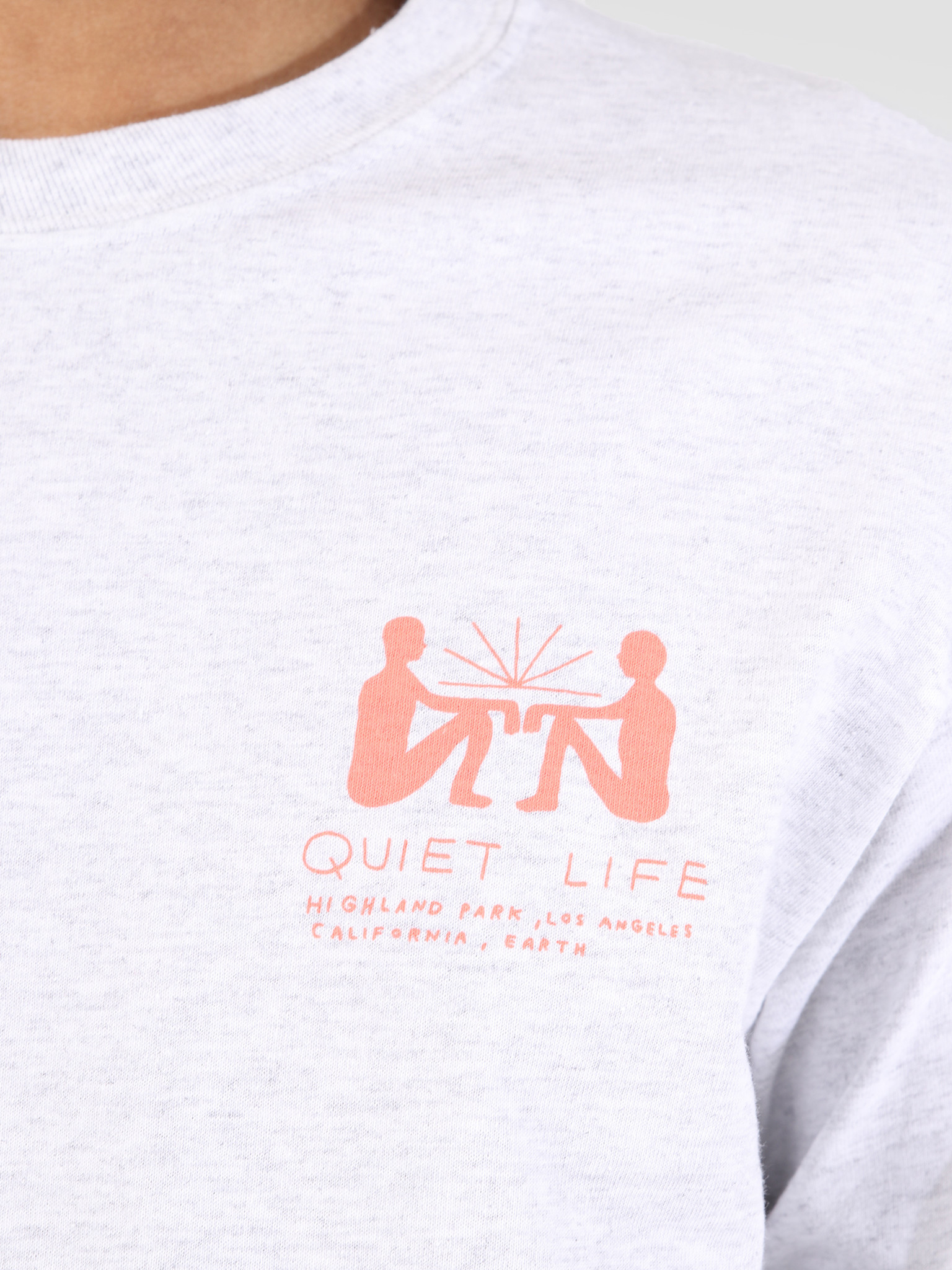 The Quiet Life The Quiet Life Community Meeting Long Sleeve Ash Heather 19SPD1-1144-ASH