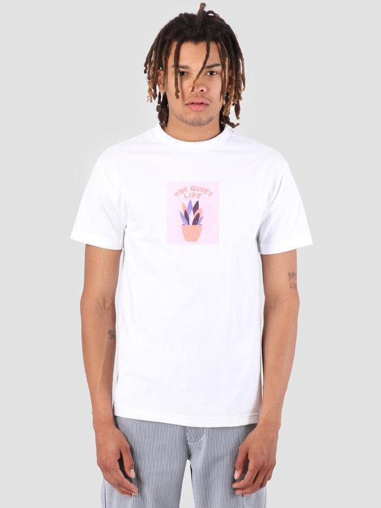 The Quiet Life Yawn Plant T-Shirt White 19SPD1-1189-WHT
