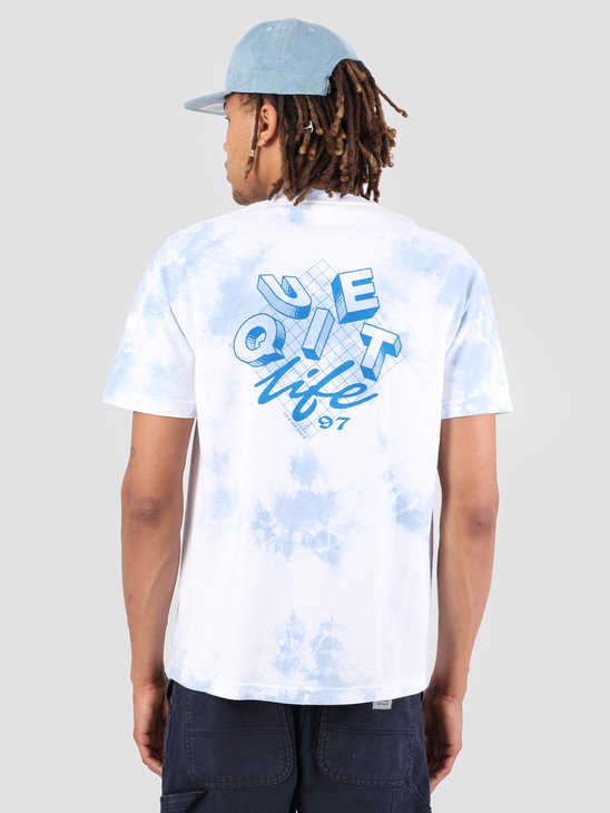 The Quiet Life Grid T-Shirt Blue Wash 19SPD1-1156-WASH