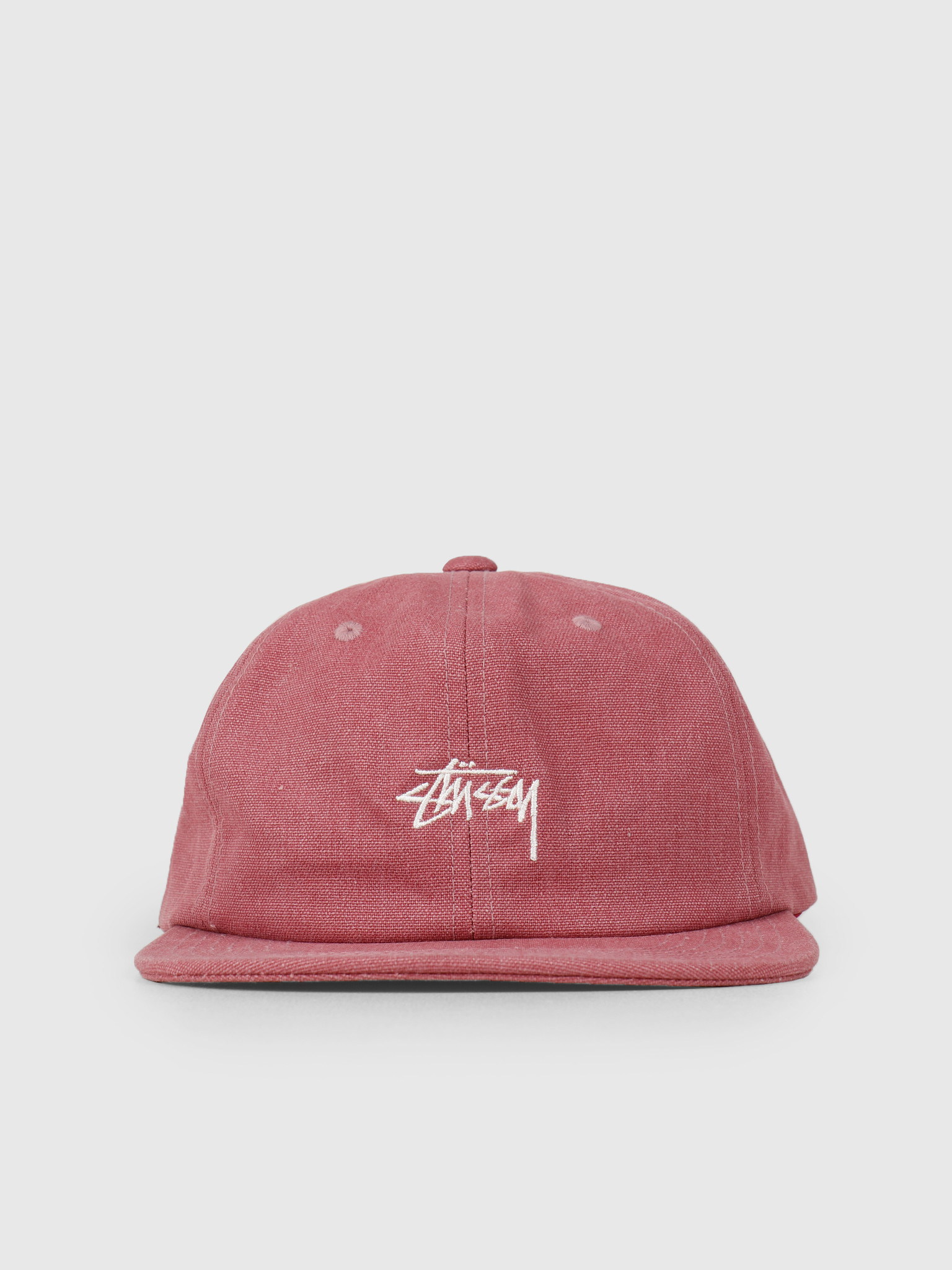 Stussy Stussy Stock Washed Canvas Cap Berry 0623