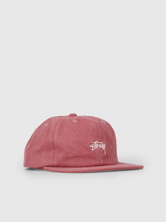 Stussy Stock Washed Canvas Cap Berry 0623