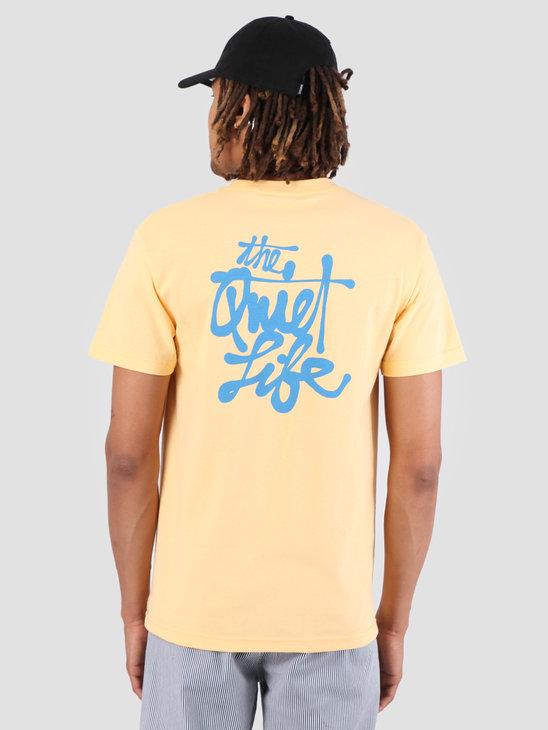 The Quiet Life Cody Script T-Shirt Squash 19SPD1-1162-SQU