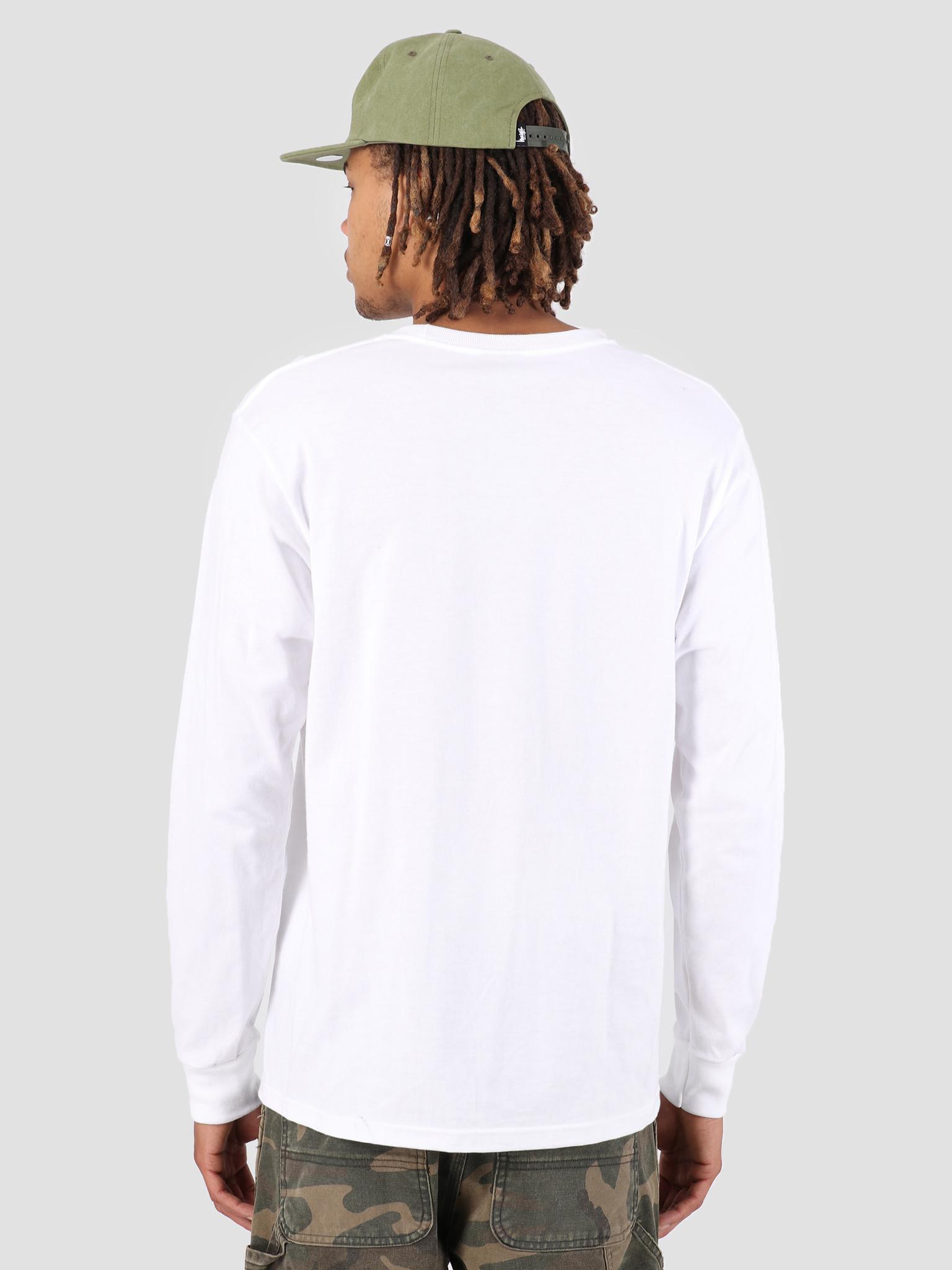 Stussy Stussy Stock Longsleeve T-Shirt White 1201