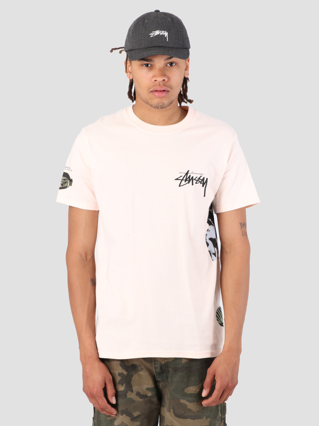 Stussy Stussy Gallery T-Shirt Pale Pink 0666