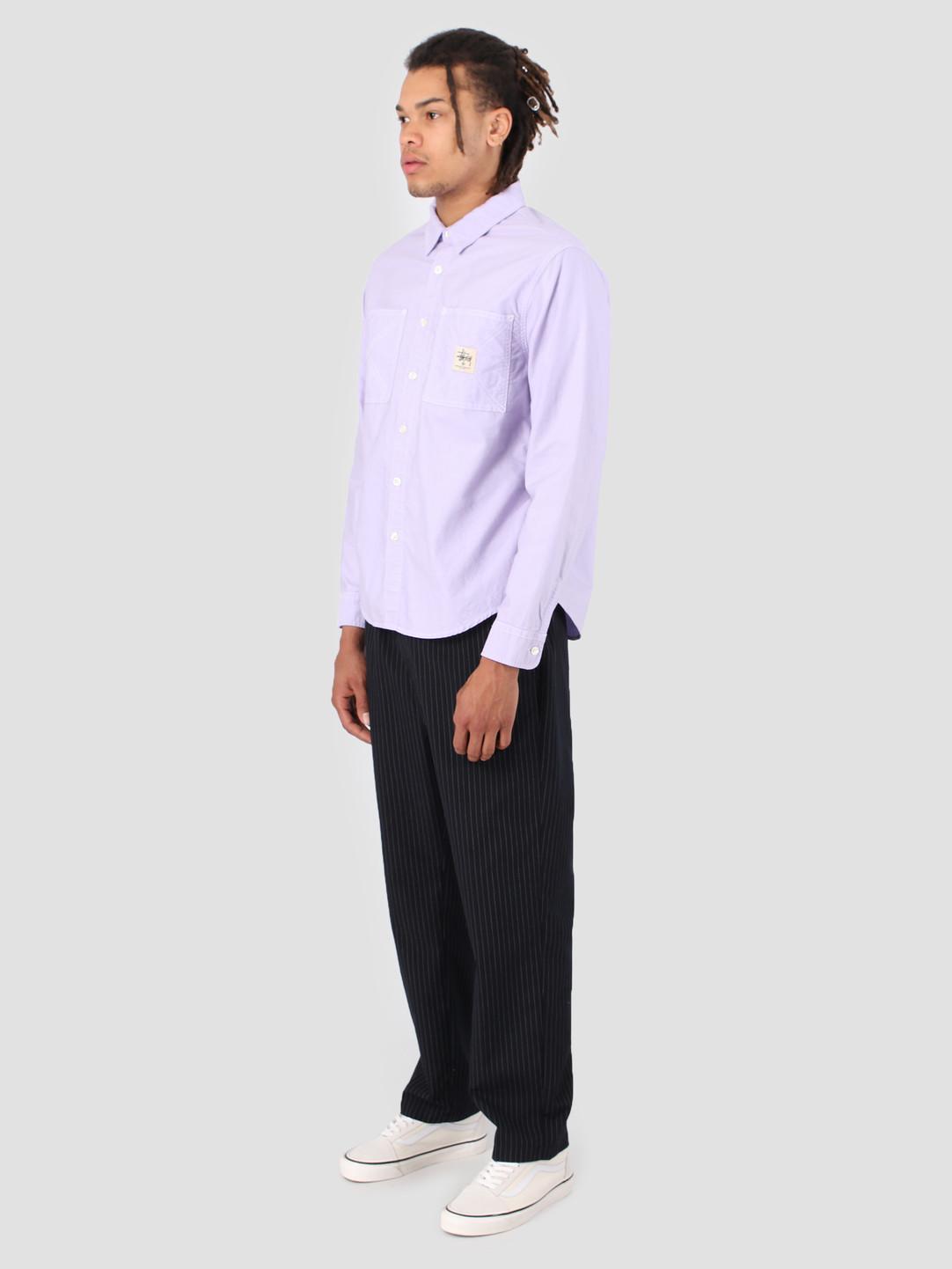 Stussy Stussy Oxford Work Longsleeve Shirt Lavendar 0820