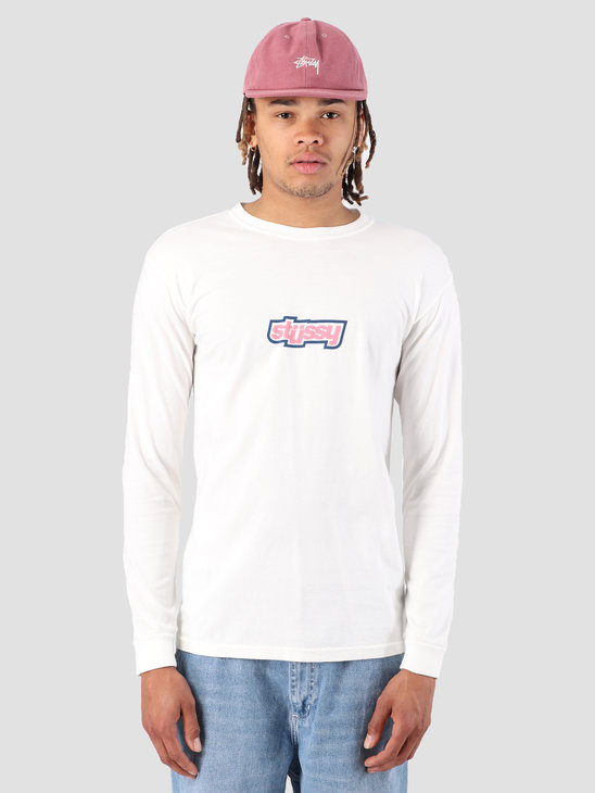 Stussy Drop U Pig. Dyed Longsleeve T-Shirt Natural 1002