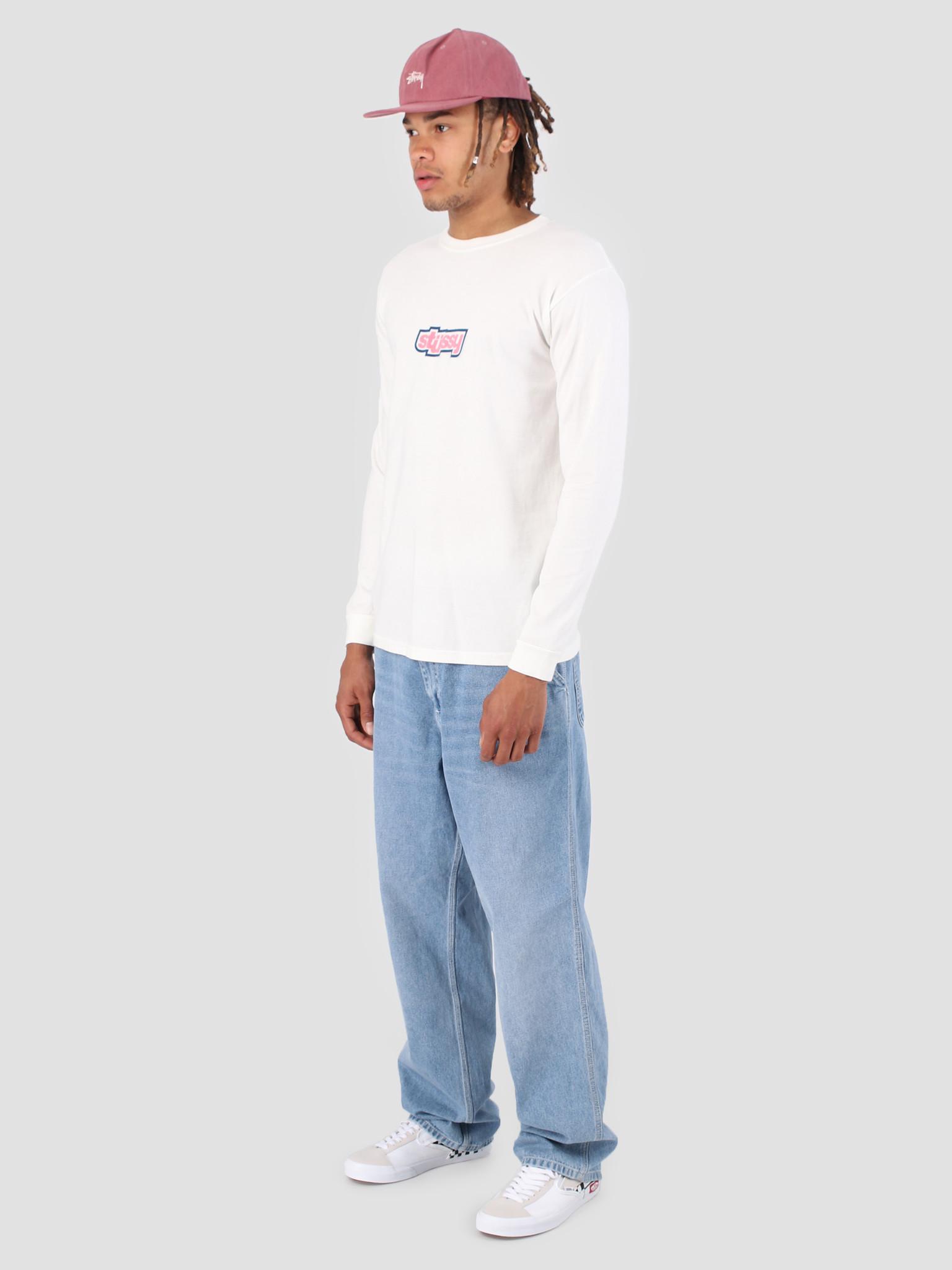 Stussy Stussy Drop U Pig. Dyed Longsleeve T-Shirt Natural 1002