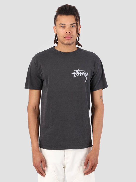 Stussy Stock Pig. Dyed T-Shirt Black 0001