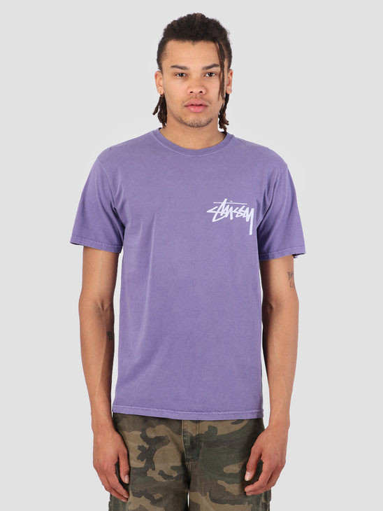 Stussy Stock Pig. Dyed T-Shirt Purple 0809