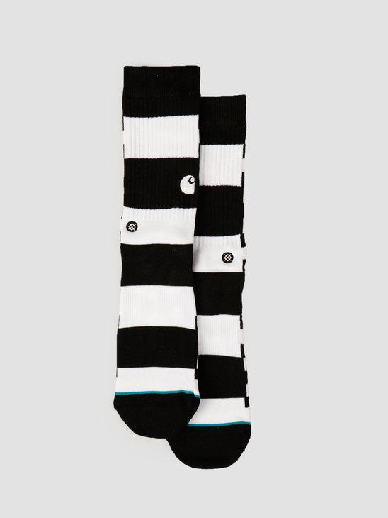 Carhartt WIP X Stance Barkley Socks Stripe Black White I027803
