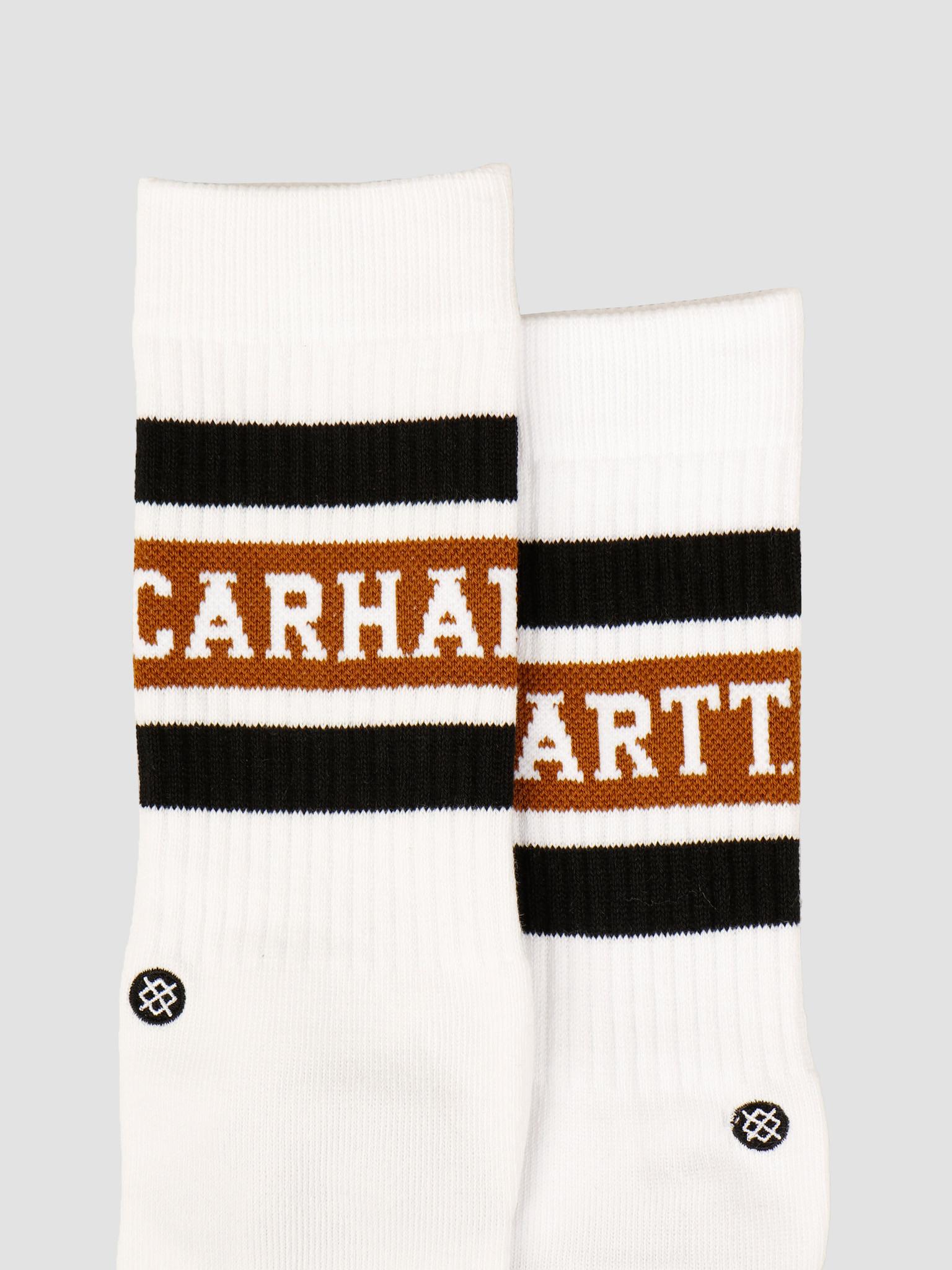 Carhartt WIP Carhartt WIP X Stance Strike Socks White Black Hamilton Brown I027799
