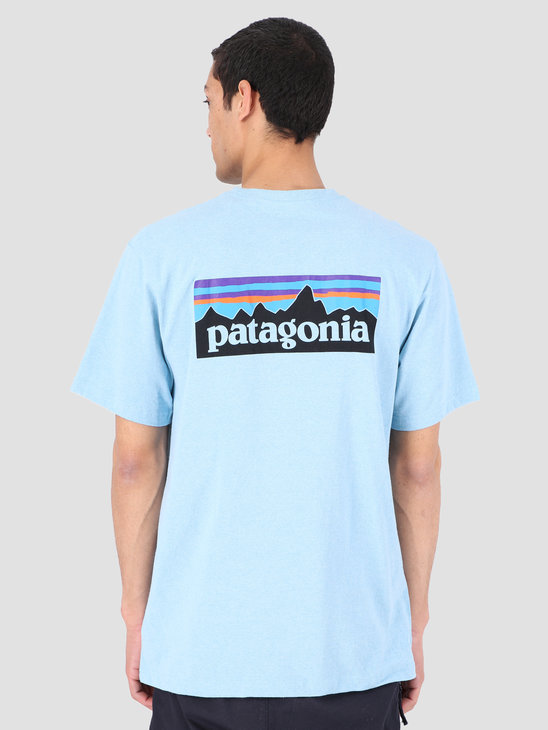 Patagonia P 6 Logo Pocket Responsibili T-Shirt Break Up Blue 39178
