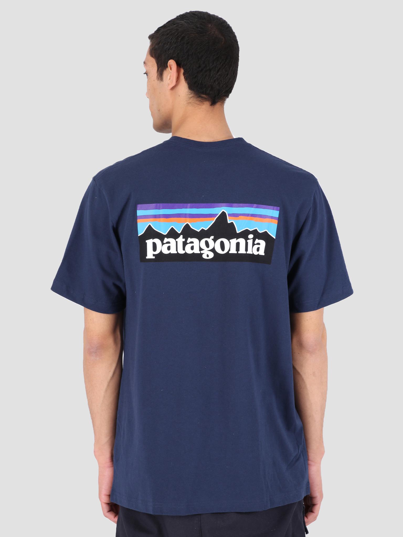 Patagonia Patagonia P-6 Logo Responsibili T-shirt Classic Navy 39174