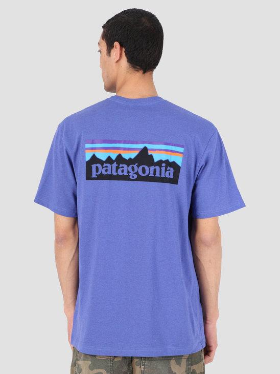 Patagonia P 6 Logo Responsibili T-Shirt Violet Blue 39174