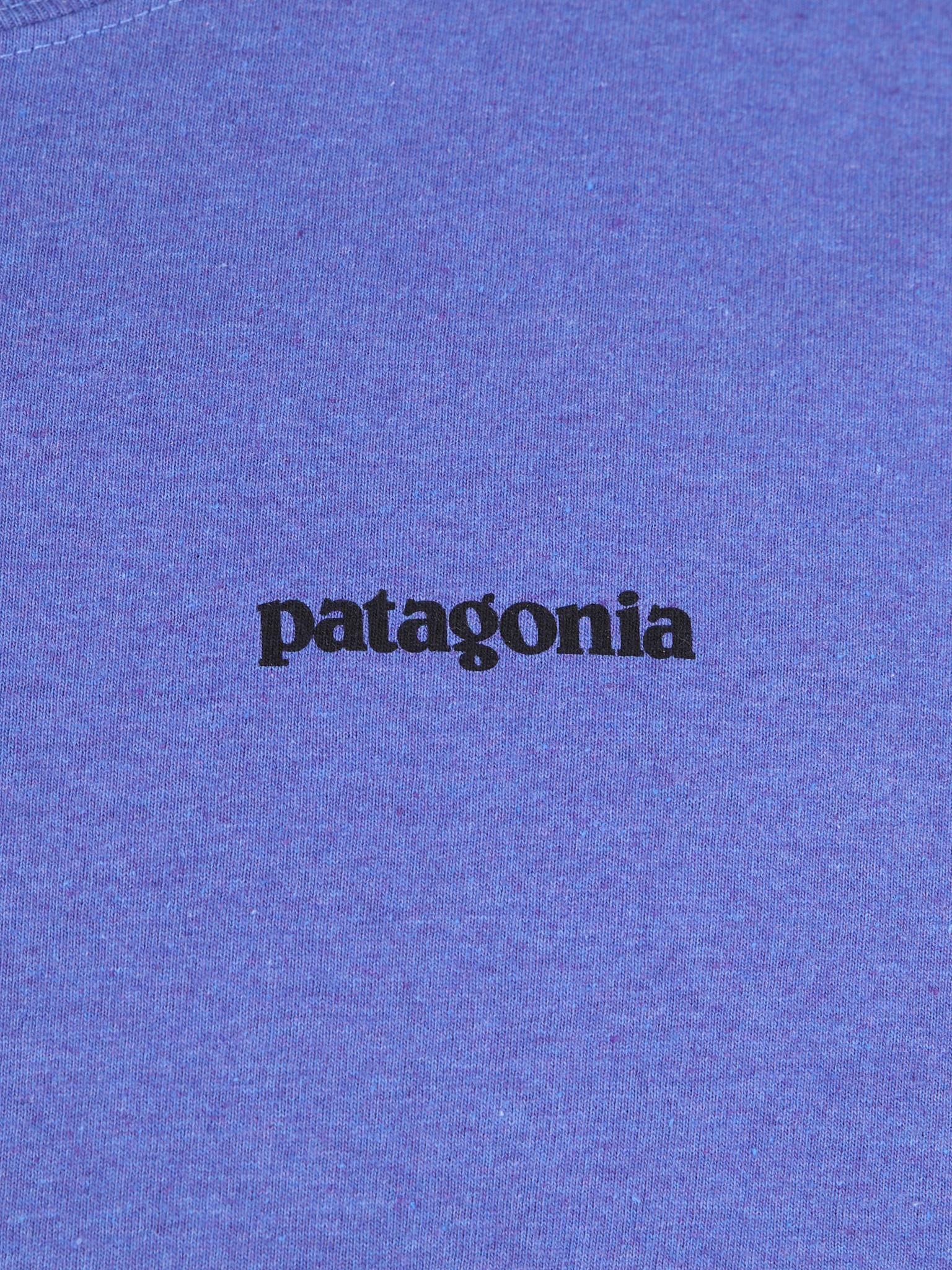 Patagonia Patagonia P 6 Logo Responsibili T-Shirt Violet Blue 39174
