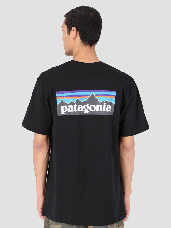 Patagonia P-6 Logo Responsibili T-Shirt Black 39174