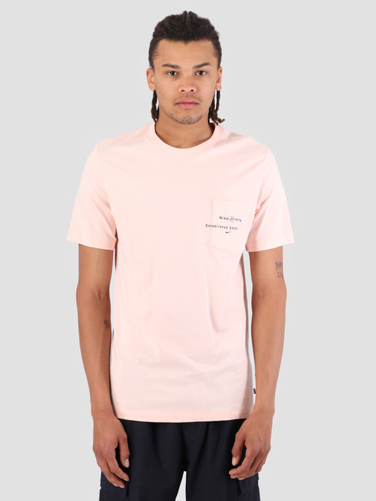 Nike SB T-Shirt Logo Pocket Washed Coral AQ4511-664