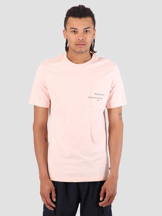 Nike SB T-Shirt Logo Pocket Washed Coral AQ4511-664