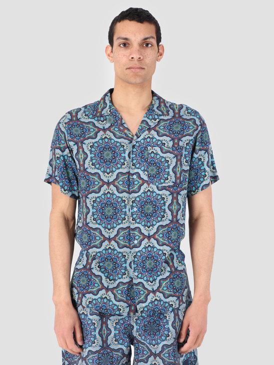 Les Deux Psychedelique Shirt Placid Blue LDM401007