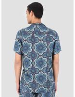 Les Deux Les Deux Psychedelique Shirt Placid Blue LDM401007