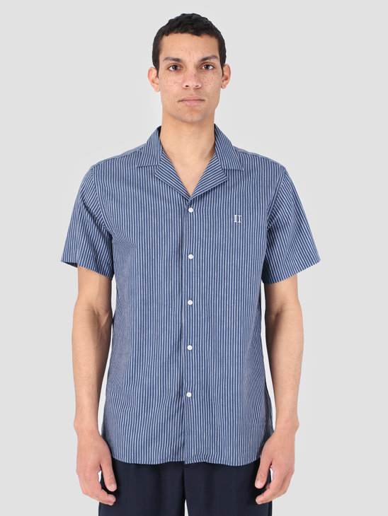 Les Deux Simon Shirt Dark Navy White LDM401006