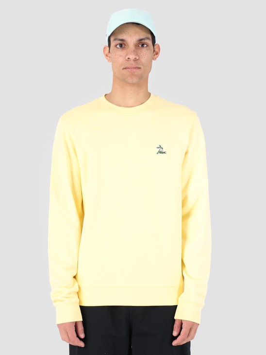 Lacoste 1Hs1 Men'S Sweatshirt 03 Napolitan Yellow Sh4375-91
