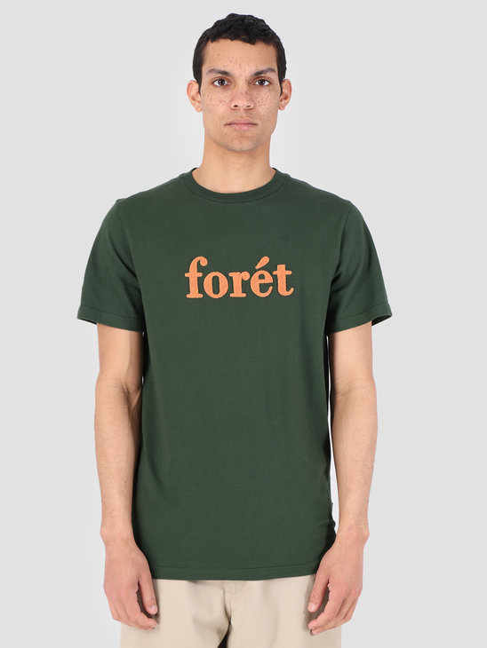 Foret Log T-Shirt Dark Green Copper F051