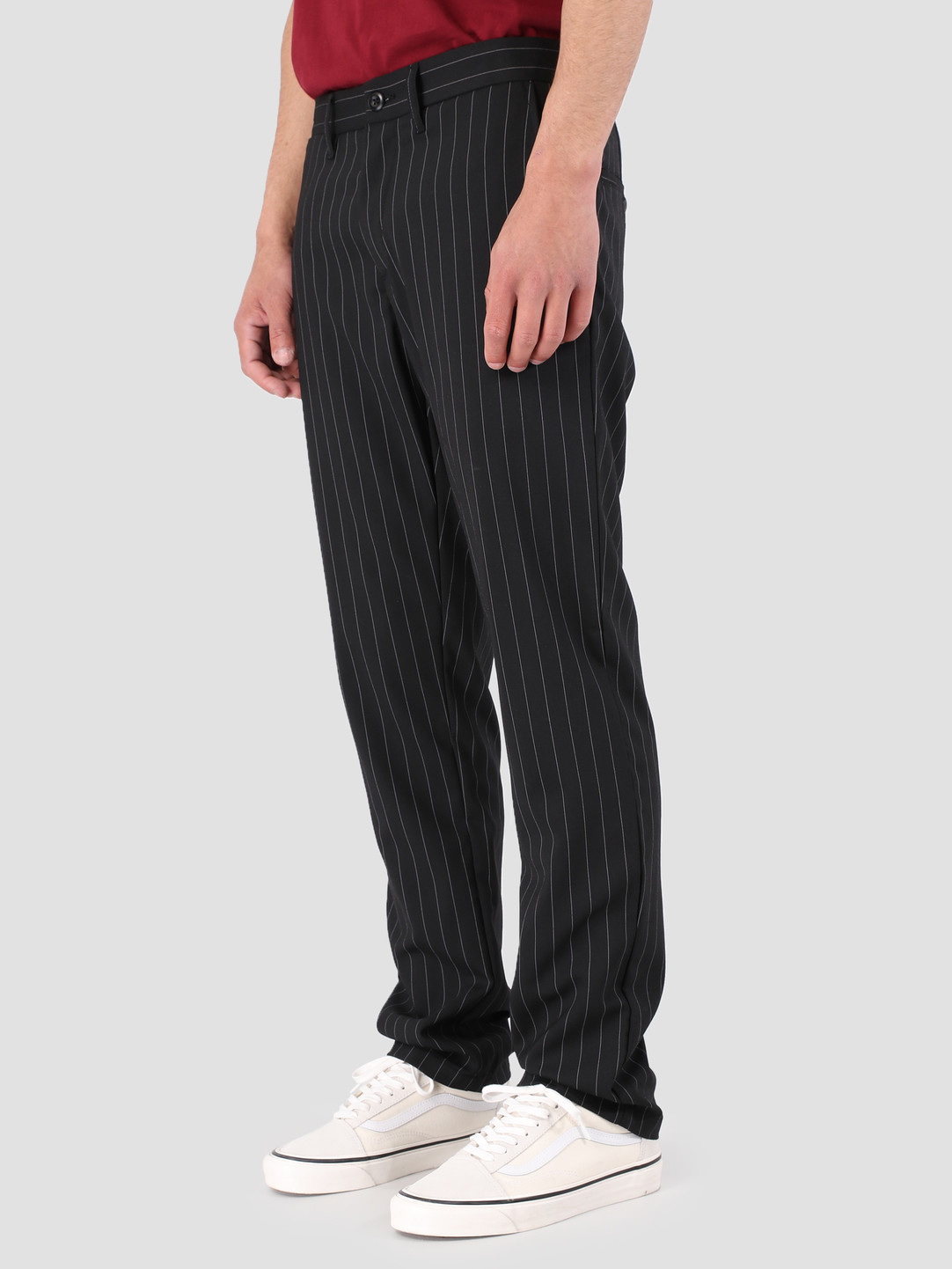 Carhartt WIP Carhartt WIP Johnson Pant Rigid Pinstripe Black White I023003