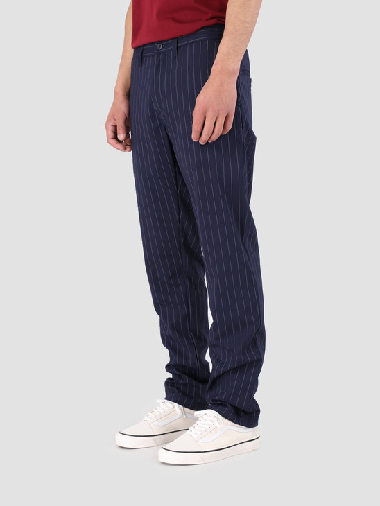Carhartt WIP Johnson Pant Rigid Pinstripe Metro Blue White I023003