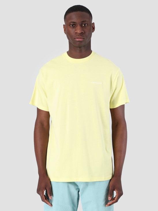 Carhartt WIP Short Sleeve Script Embroidery T-Shirt Honeydew White 61091000