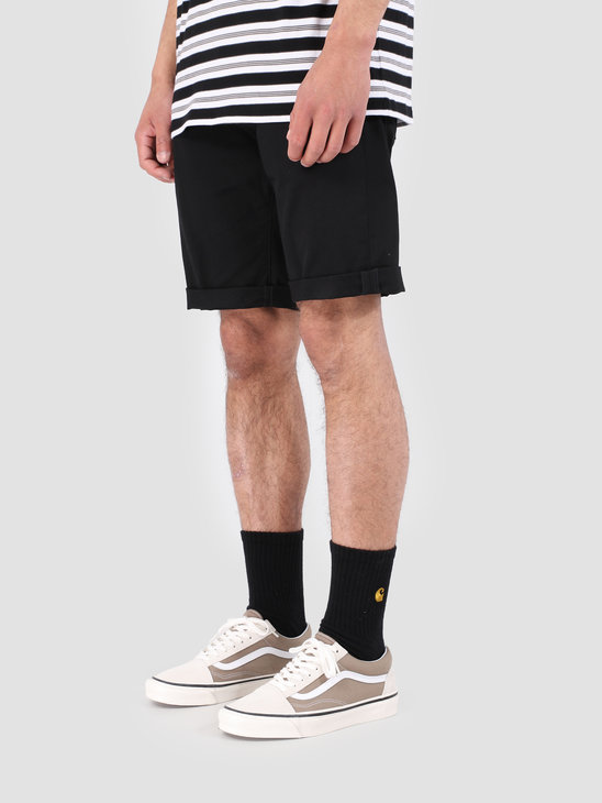 Carhartt WIP Swell Short Rinsed Black I012292-8902