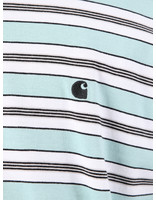 Carhartt WIP Carhartt WIP Short Sleeve Huron T-Shirt Huron Stripe Soft Aloe Black 61091000