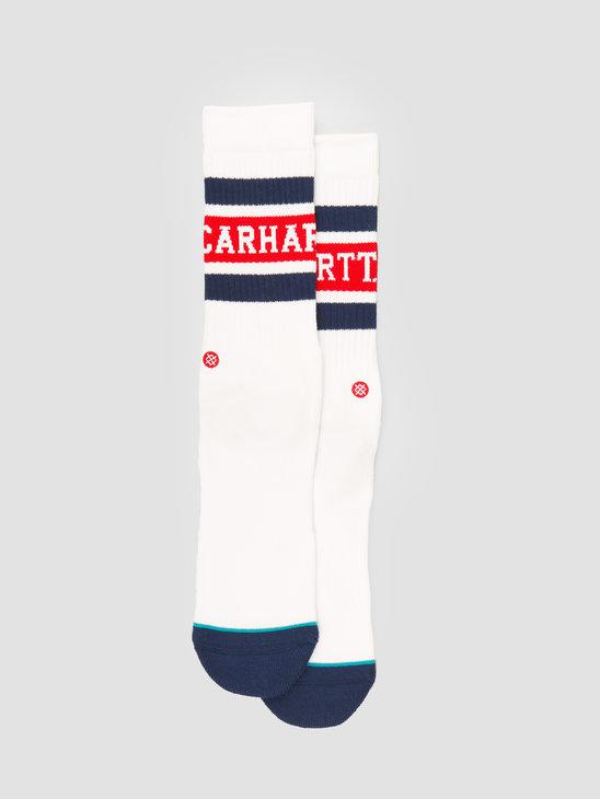 Carhartt WIP X Stance Strike Socks White Blue Cardinal I027799