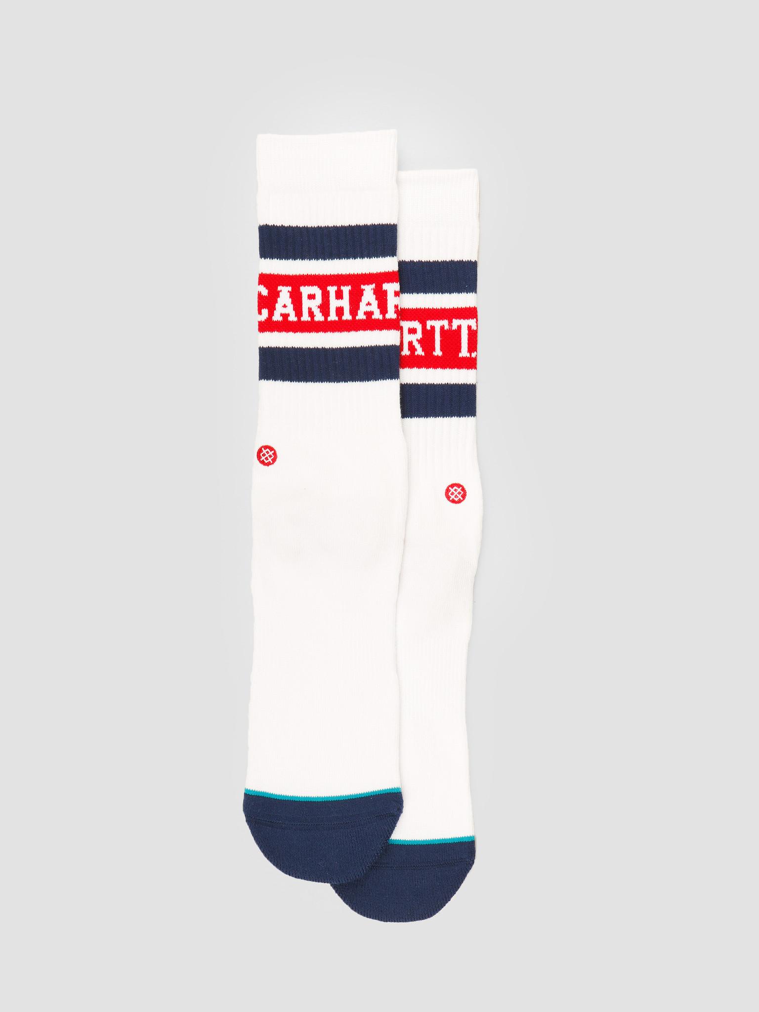 Carhartt WIP Carhartt WIP X Stance Strike Socks White Blue Cardinal I027799