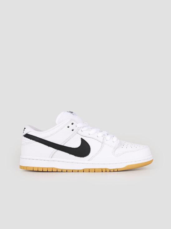 Nike SB Dunk Low Pro Iso White Black-White-Gum Light Brown CD2563-100