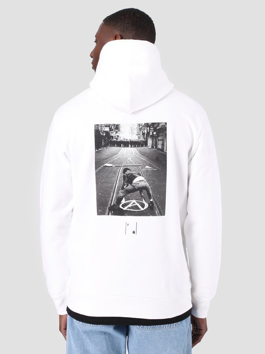 Carhartt WIP x FRESHCOTTON Anarchy Hooded Sweat White Gold I028083