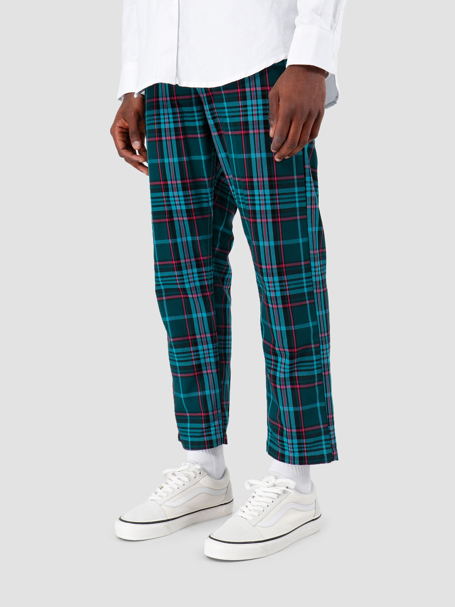 Obey Obey Straggler Plaid Flooded Pant TEA 142020126