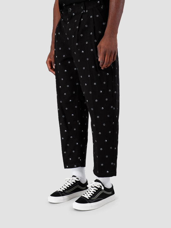 Obey Fubar Pleated Printed Pant BLK 142020129