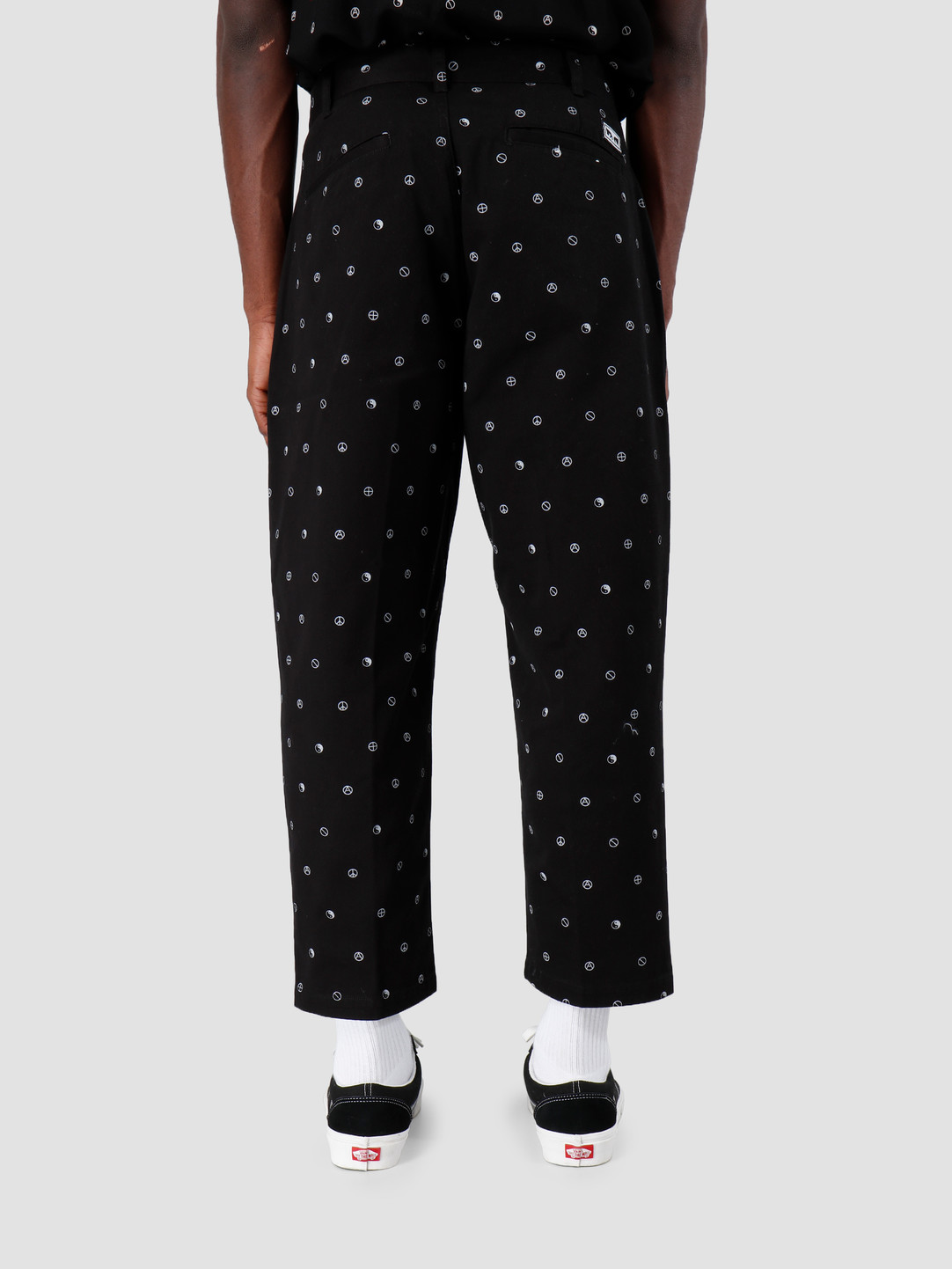 Obey Obey Fubar Pleated Printed Pant BLK 142020129