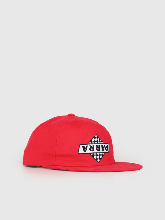 By Parra 6 Panel Hat Not Racing Red 42590
